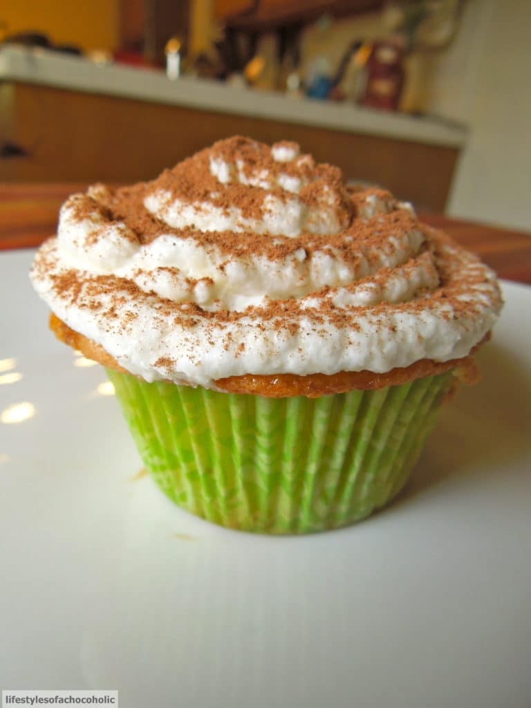 Tiramisu Cupcake on a white plate