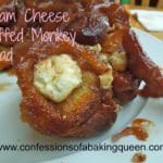 Monkey Bread Stuffed with Cream Cheese www.confessionsofabakingqueen.com