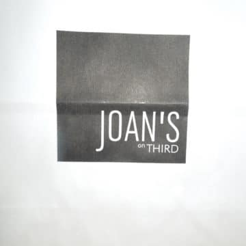 picture of the to-go bag from Joans on third