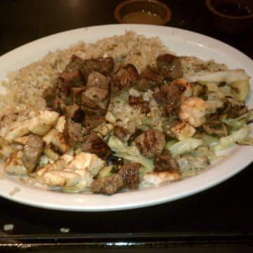 dinner plate from Bari Bari, Yorba Linda CA