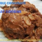 Double Chocolate Peanut Butter Oat Cookies www.confessionsofabakingqueen.com