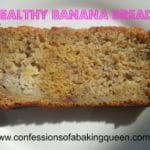 Skinny Banana Bread www.confessionsofabakingqueen.com