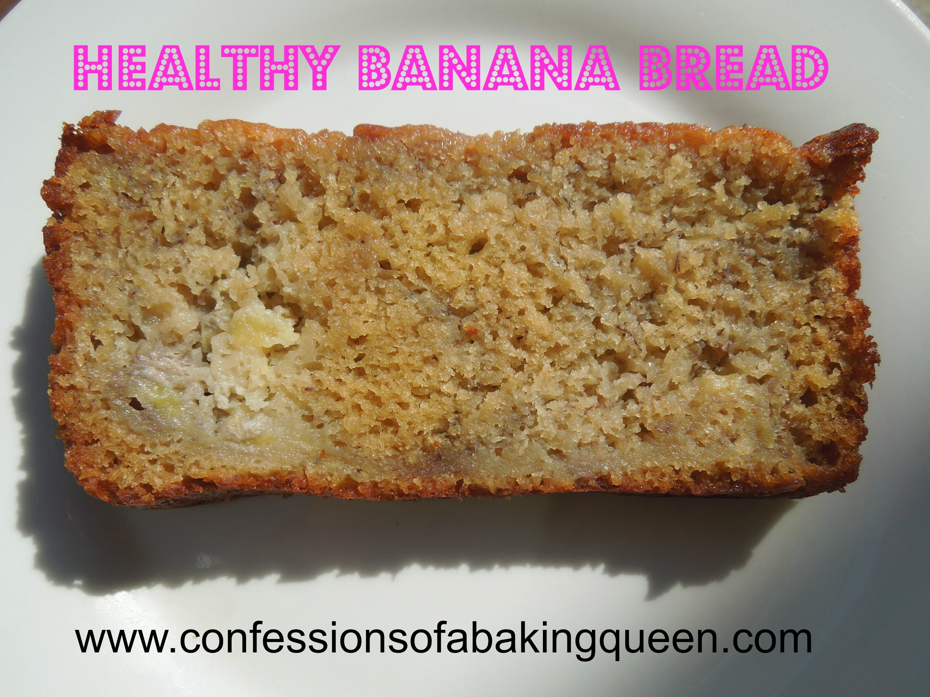 slice of skinny banana bread on a white plate
