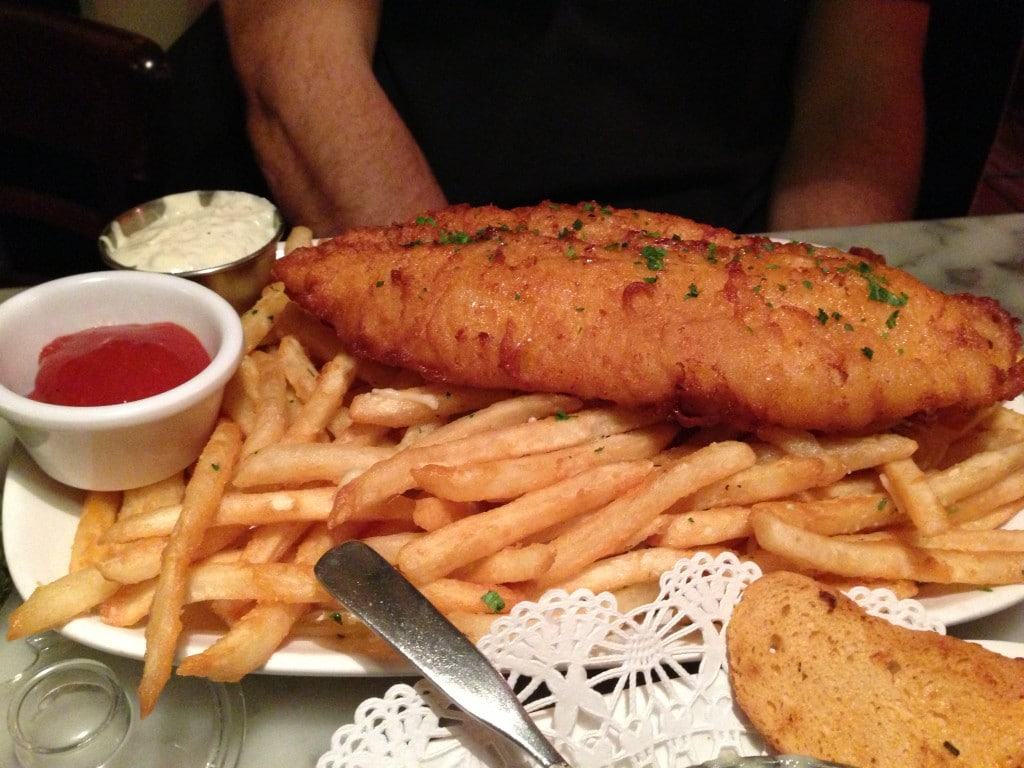fish and chips from the stinking rose