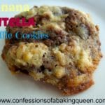 banana nutella cookies