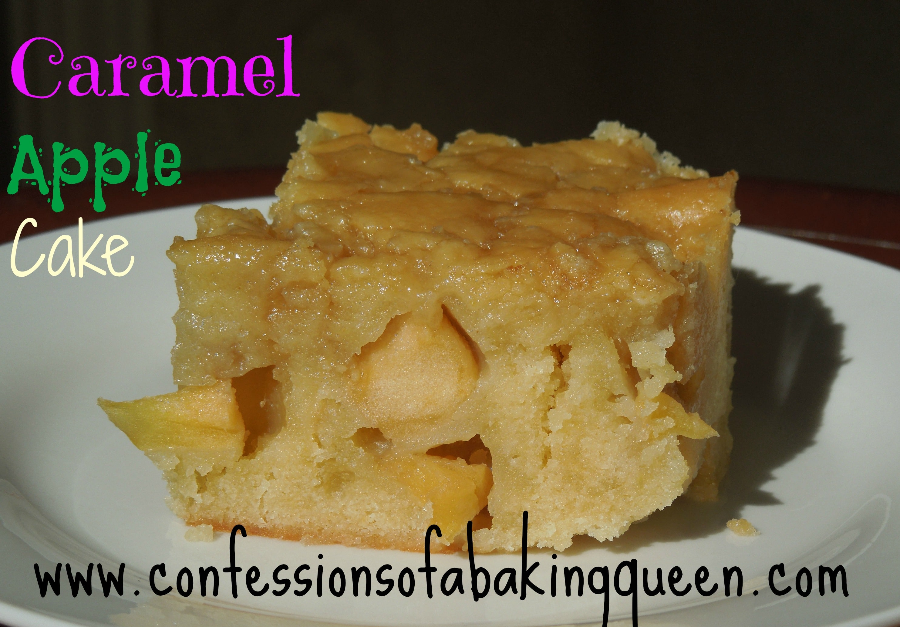 Caramel Apple Cake www.confessionsofabakingqueen.com