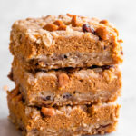 stack of pumpkin pie bars