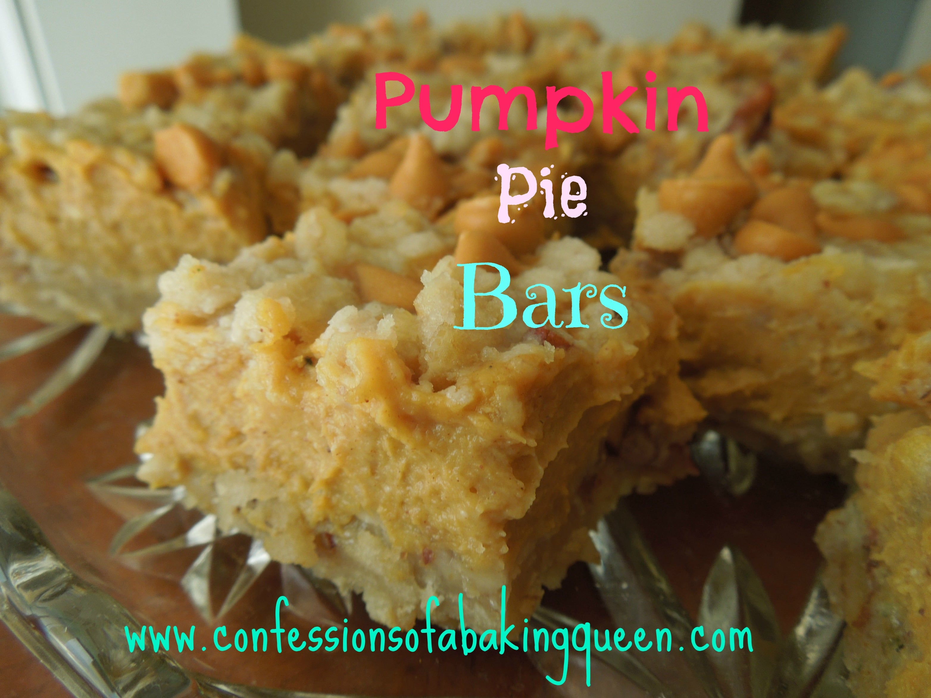 Pumpkin Pie Bars www.confessionsofabakingqueen.com