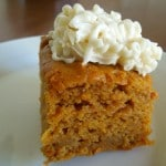 Pumpkin Bars w/ Cream Cheese Frosting