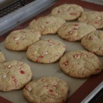Candy Cane White Chocolate Cookies
