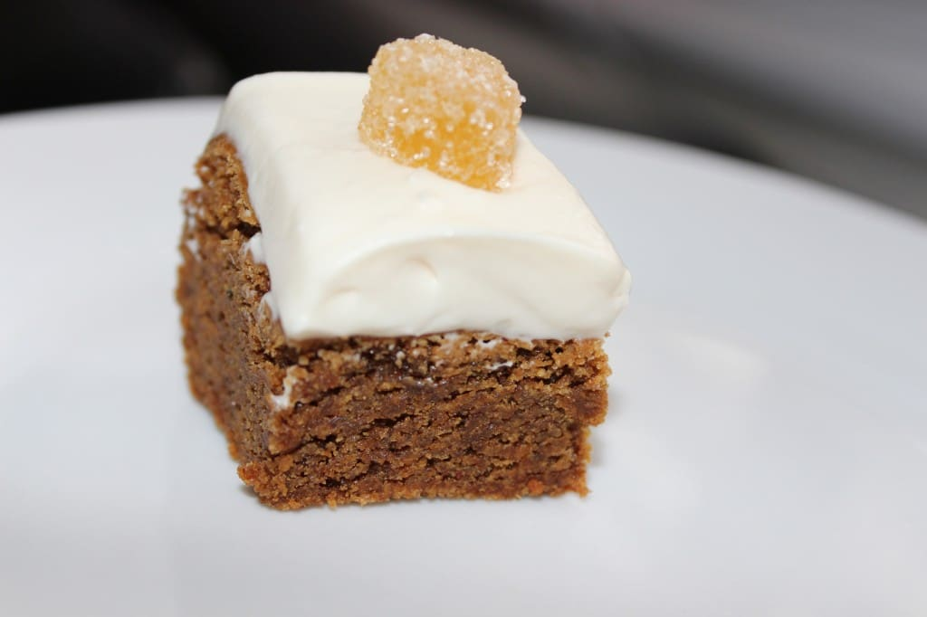 Gingerbread Brownies w/ Cream Cheese Frosting