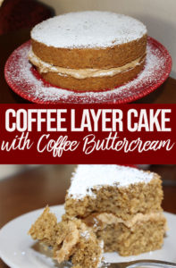 the best coffee cake served on a red plate