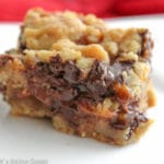 Salted Caramel Heath Bar Stuffed Chocolate Chip Cookie Bar