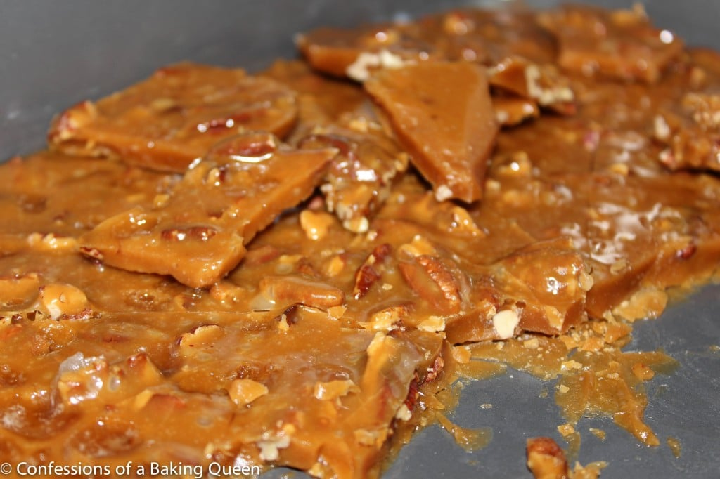 Toffee Brittle Dipped in Milk Chocolate www.confessionsofabakingqueen.com #toffee #toffeebrittle #chocolate #seescandy #candy
