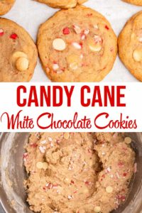 overhead view of White Chocolate Candy Cane Cookies