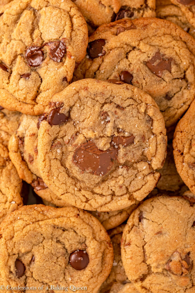 lots of chocolate chip cookies altogether
