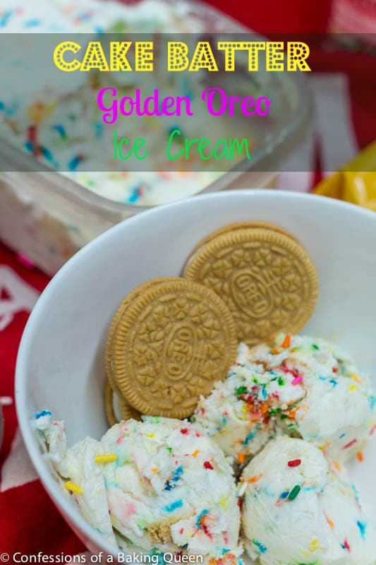 Cake Batter Golden Oreo Ice Cream