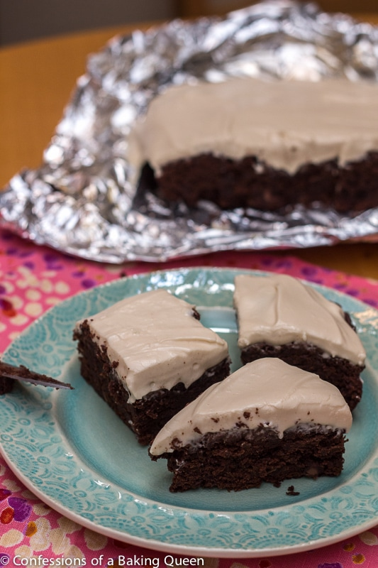 Guinness Chocolate Brownies Baileys Cream Cheese Frosting