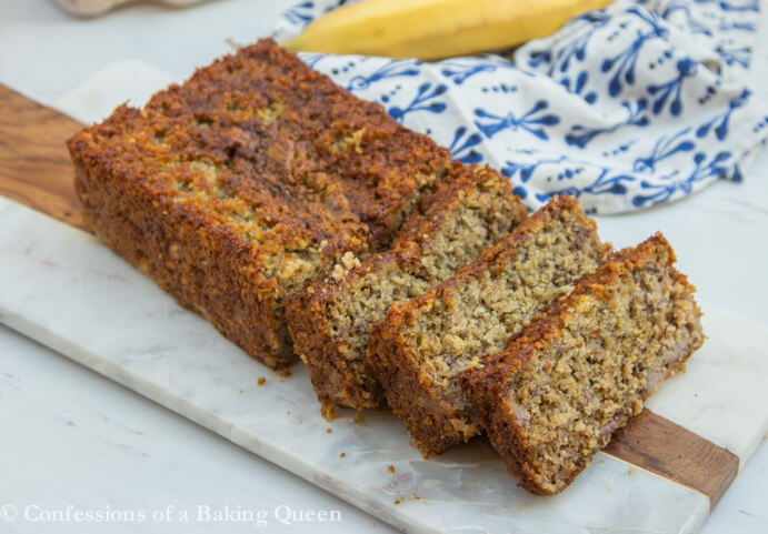 Oat Flour Banana Bread Sliced