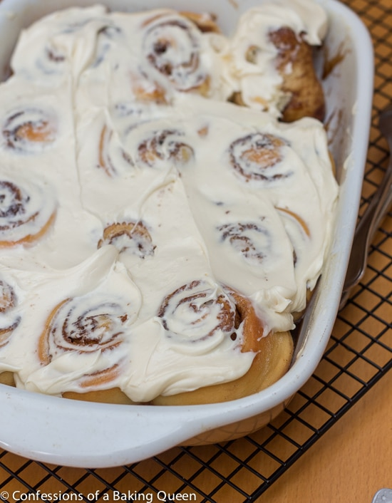 Overnight Cinnamon Rolls- Confessions of a Baking Queen