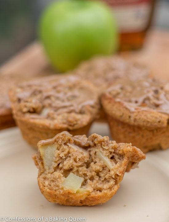 Apple Muffins w/ Maple Glaze www.confessionsofabakingqueen.com