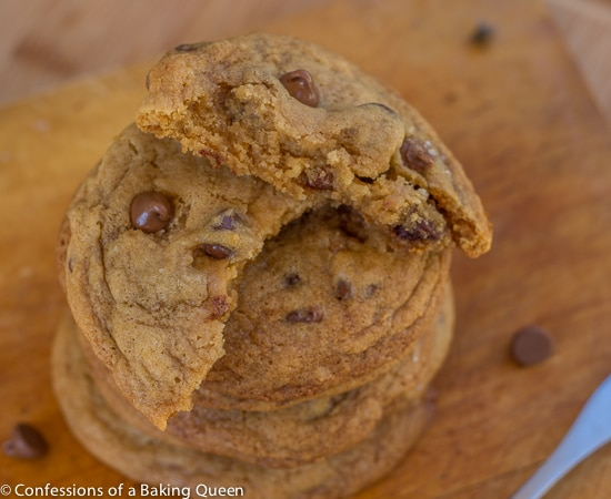 Salted Caramel Chocolate Chip Cookies  www.confessionsofabakingqueen.com