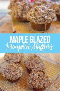 Maple Pumpkin Muffins on a wood board