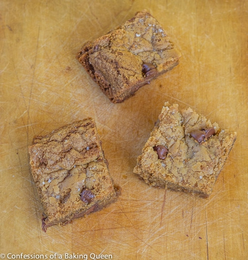 Cookie Butter Sea Salt CC Blondies www.confessionsofabakingqueen.com