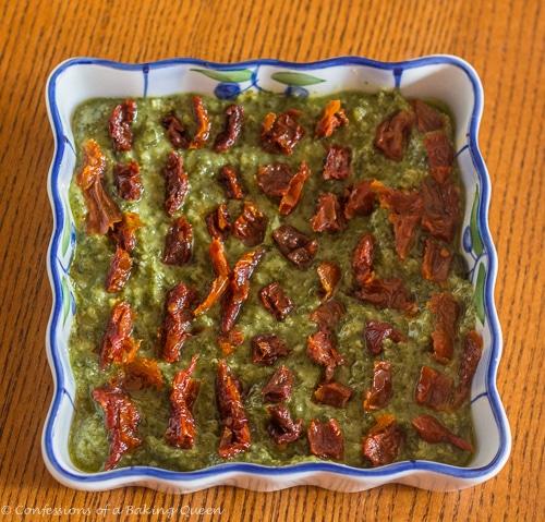 Feta Pesto Sundried Tomato Dip www.confessionsofabakingqueen.com