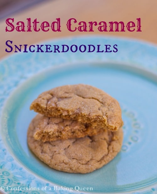 Salted Caramel Snickerdoodles www.confessionsofabakingqueen.com