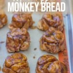 mini apple monkey breads on a baking sheet