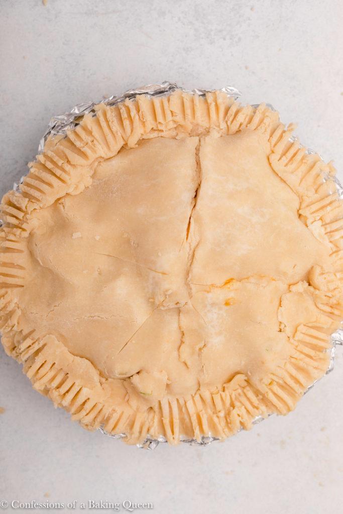 apple pie before baking