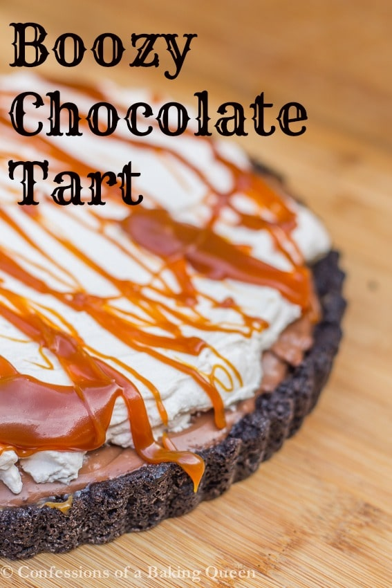 ... chocolate whipped cream triple chocolate tart with boozy whipped cream