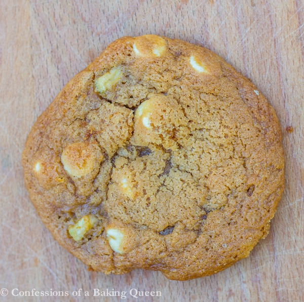 Salted Caramel Apple White Chocolate Cookie close up