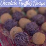 baileys mint truffles on a glass plate