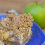 maple apple cheesecake bars, cheesecake bar recipe, maple apple