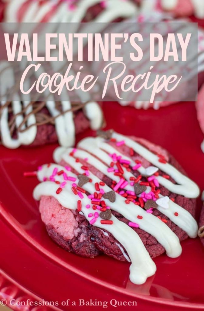 Valentines Day Cookies on a red plate