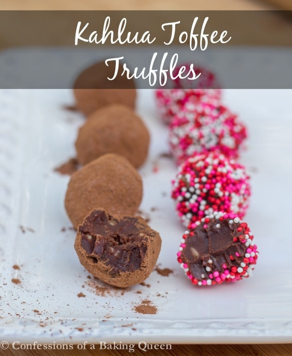 Kahlua Toffee Truffles  www.confessionsofabakingqueen.com