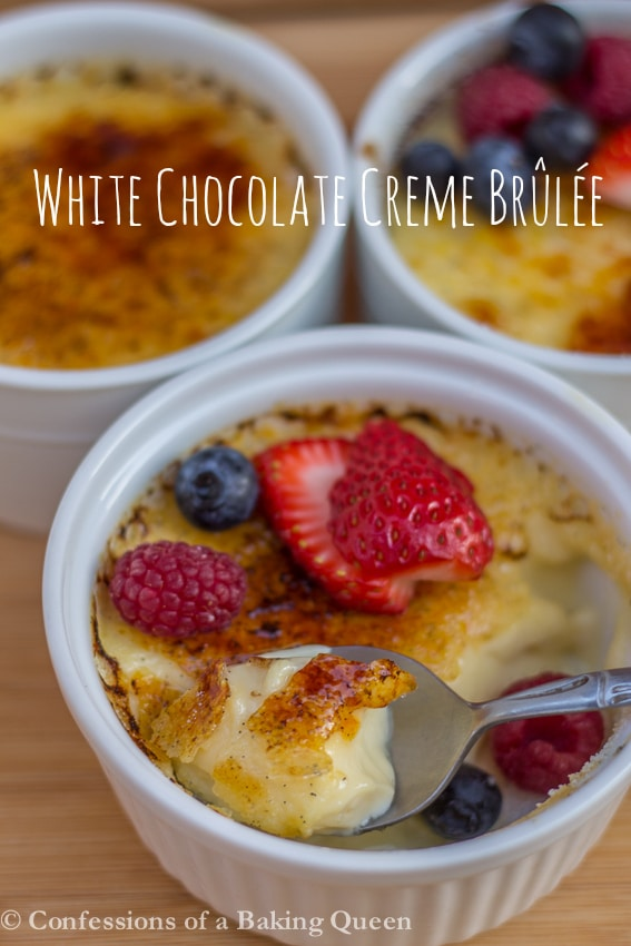 White Chocolate Creme Brulee www.confessionsofabakingqueen.com