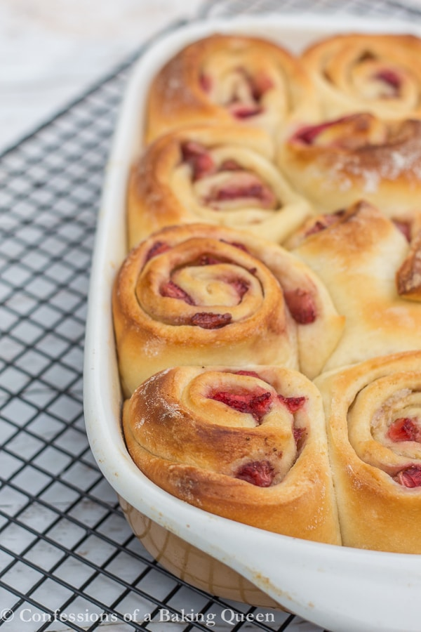 Strawberry Sweet Rolls www.confessionsofabakingqueen.com