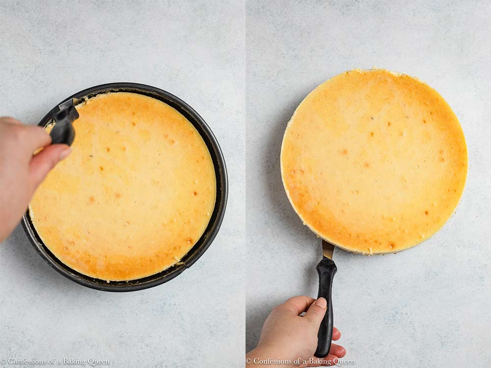 how to get a cheesecake out of a springform pan