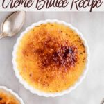 freshly torched creme brulee in a ramekin