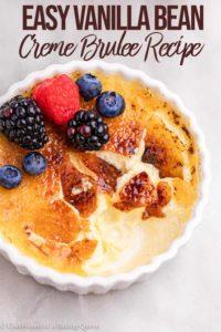 cracked vanilla bean creme brulee