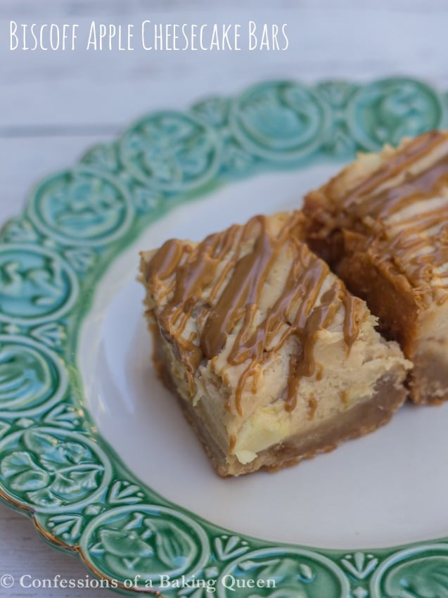 Biscoff Apple Cheesecake Bars