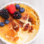 cracked vanilla bean creme brulee