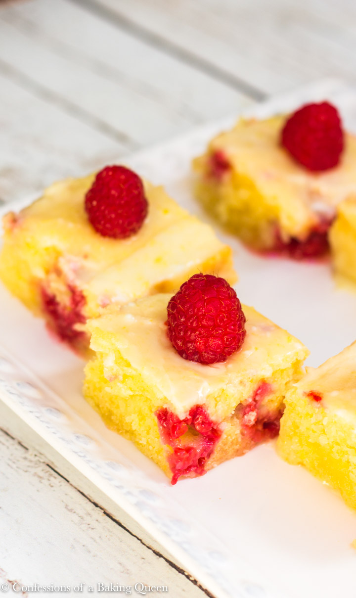 raspberry lemonies served on a white plate