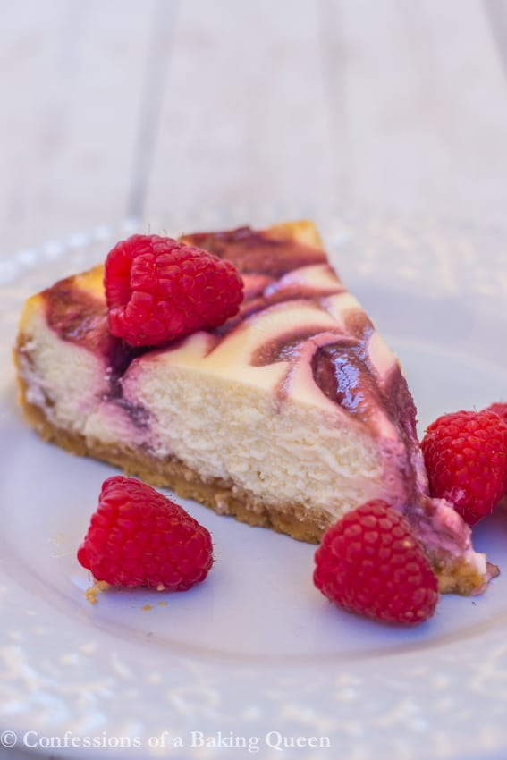 Raspberry Swirl Lemon Cheesecake