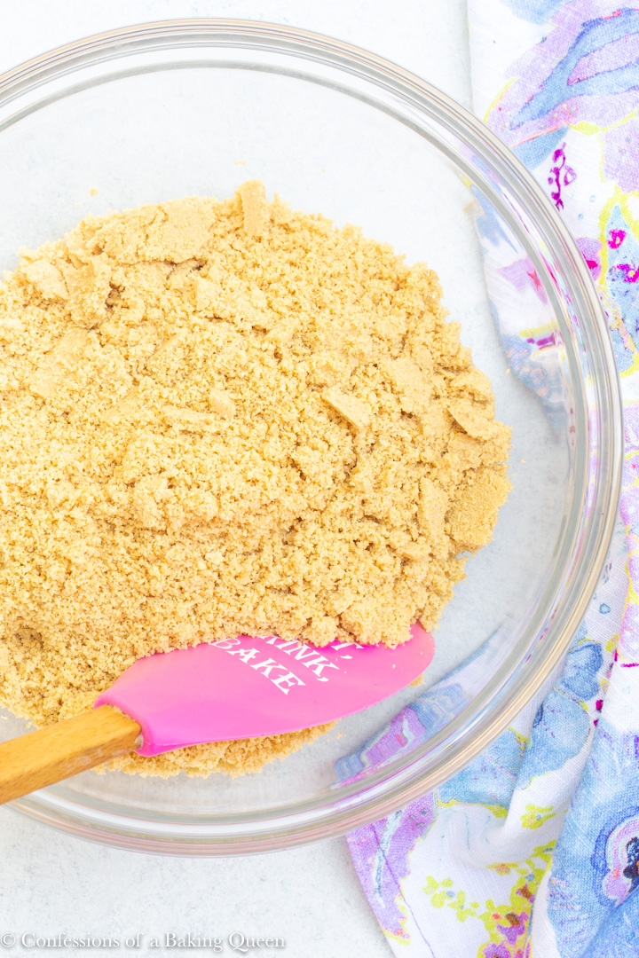 crushed golden oreos for a raspberry lemon cheesecake recipe