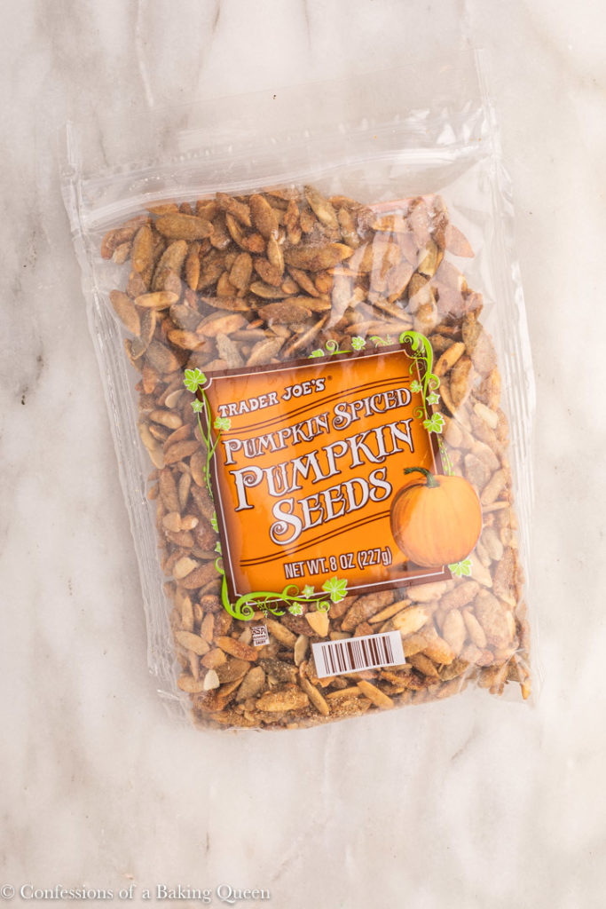 bag of pumpkin spiced pumpkin seeds