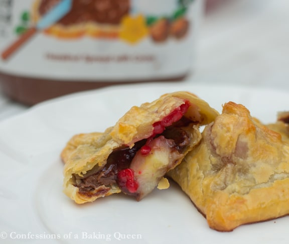 Nutella Banana Raspberry Puffs www.confessionsofabakingqueen.com